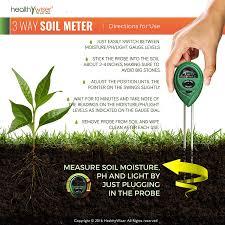 soil ph meter 3 in 1 soil test kit for moisture light and ph a