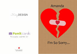 i m sorry greeting cards printed and mailed for you in canada by