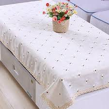 Coffee Table Linens by Yazi Country Rustic Embroidery Cutwork Lace Dining Table Cloth