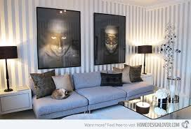 Striped Living Room Curtains by 15 Striped Walls Living Room Designs Home Design Lover