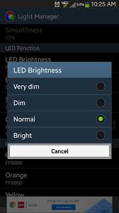 use light manager for complete control over your notification
