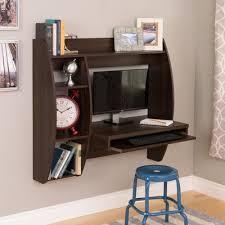 Espresso Office Desk Espresso Wall Mounted Office Desk With Keyboard Tray Officedesk