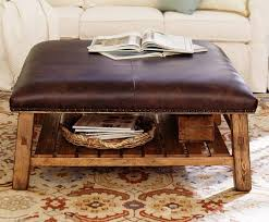 round leather coffee table incredible round leather ottoman coffee table interiorvues
