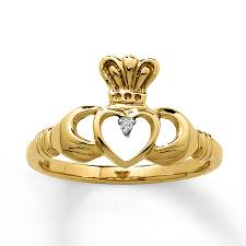 claddagh ring meaning jared 10k yellow gold claddagh ring