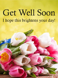 get well soon flowers colorful tulip get well card birthday greeting cards by davia