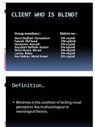 Legally Blind Definition Client Who Is Blind