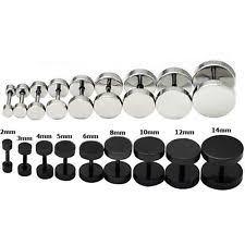 black ear studs men s earrings studs ebay