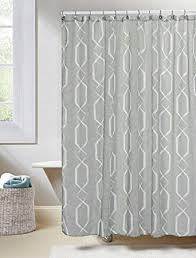 Sheer Shower Curtains Gray Linen Textured Sheer Fabric Shower Curtain White