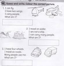 kssr year 1 english exercise