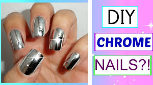 diy chrome nails with aluminum foil pinterest test youtube