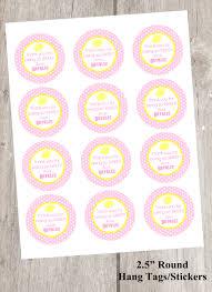 pink lemonade printable favor tags lemonade labels stickers