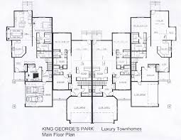 Townhome Floor Plan Designs Luxury Townhome Floor Plans Home Design Inspiration