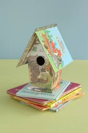 cute idea decoupage cheap birdhouses using old childrens books