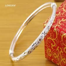 silver bracelet styles images 9 styles genuine 999 sterling silver bracelet bangles female top jpg