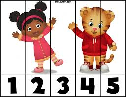 free daniel tiger number puzzles prekautism com pinterest