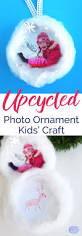 kids christmas craft idea upcycled photo frame ornament