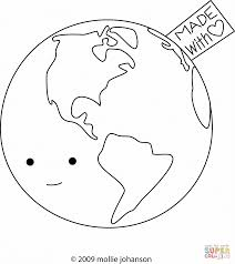 earth made with love coloring page free printable coloring pages