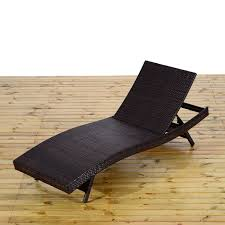 Patio Recliner Lounge Chair by Outsunny Reclining Pe Rattan Wicker Patio Lounge Chair Aosom Ca