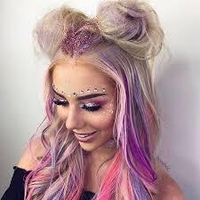 sparkly hair festival vibes briteorganix angelaheng kassandrakashian