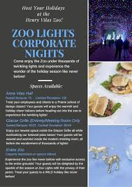 henry vilas zoo christmas lights henry vilas zoo madison wi party venue