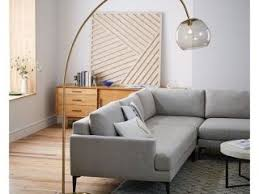 west elm arc l west elm overarching acrylic shade floor l brass smoke better