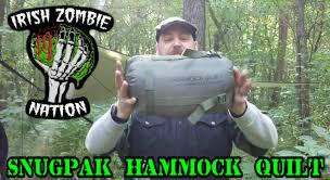 Cocoon Hammock Camping Snugpak Hammock Quilt Cold Weather Hammock Camping Youtube