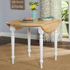 40 Inch Round Table Two Tone 40 Inch Rubberwood Round Drop Leaf Table Free Shipping