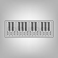 piano keyboard sign dot style or bullet style icon on white