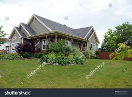 country style house picture typical north american country style stock photo 62028838