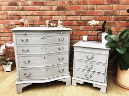 Vintage Bedside Tables Vintage Chest Of Drawers And Bedside Table Painted Pineapples