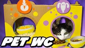 decorating the cat toilet for easter diy easter crafts for kids