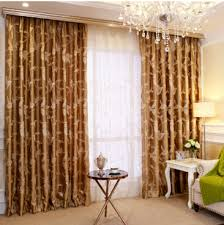 Gold Living Room Curtains Gold Room Curtain With Leaf Pattern Curtainsmarket Blog