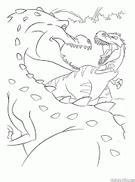 coloring page mom dinosaur and rudy