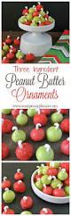 easy 3 ingredient peanut butter ornaments easy peasy pleasy