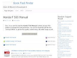 19 honda f 560 manual