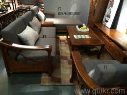 CLASSY LONI TEAKWOOD SOFA SET Brand Home Office Furniture - Teak wood sofa set designs