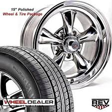 rims for 1968 mustang 15x7 15x8 polished rev 100 wheels tires ford mustang 1965