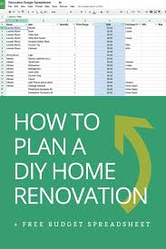 renovations budget template how to plan a diy home renovation budget spreadsheet