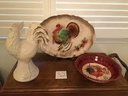 ceramic turkey platter puget sound estate auctions lot 32 co 1958 ceramic