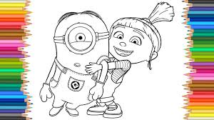 despicable 3 agnes minion coloring pages coloring