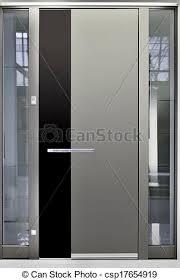Aluminum Exterior Door Aluminum Front Door Metallic Entry Front Door Stock