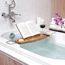amazon com umbra aquala bamboo and chrome bathtub caddy home