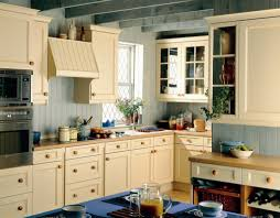 pine cabinet and grey wall color for classic kitchen design using