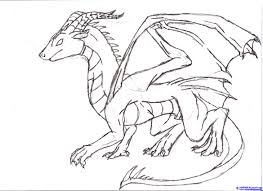 dragon drawing for kids drawing sketch picture