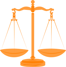 free vector graphic scales justice balanced orange free