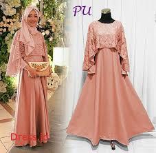 model baju muslim modern baju muslim modern brokat model busana pesta remaja dress id