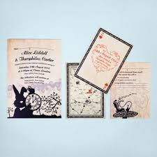 Special Invitation Cards Alice In Wonderland Wedding Invitations Kawaiitheo Com