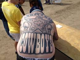 dallas cowboys fan declares allegiance with huge tattoo