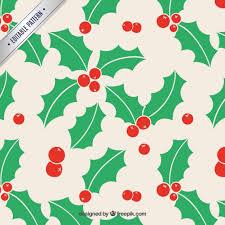 christmas mistletoe christmas mistletoe pattern vector premium