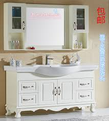 Bathroom Supplies Online White Wash Basin On Wooden Modern Bathroom Vanity And Grey Wall